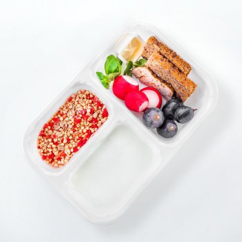 "Yogurt with ""Strawberry Little Something"" muesli"